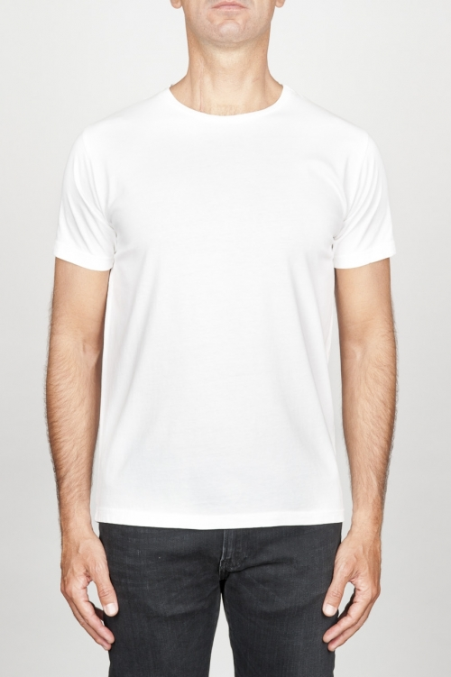 SBU 00988 Classic short sleeve cotton scoop neck t-shirt white 01