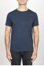 SBU 00989 Classic short sleeve cotton scoop neck t-shirt blue 01