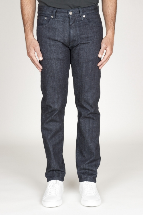 Original Indigo Dyed Japanese Cotton Selvedge Denim Dark Blue Jeans