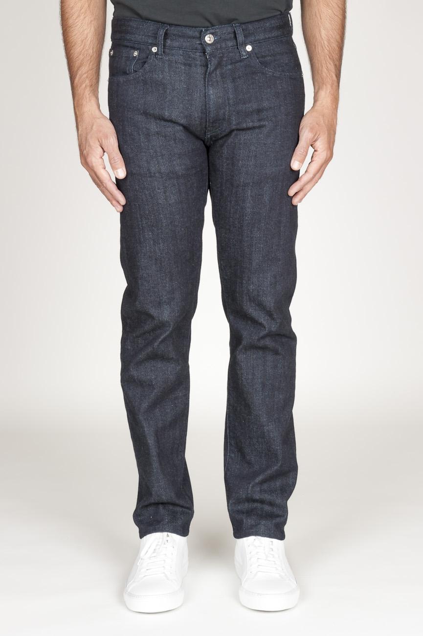 Original pantalones vaqueros teñidos en añil de denim selvedge japónes de color azul oscuro