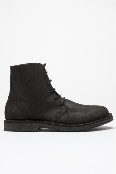 SBU 00991 Classic desert boots high top in pelle oliata nere 01