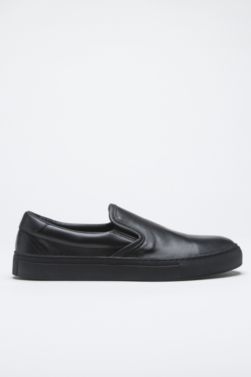 SBU 00996 Original slip on di pelle nere 01