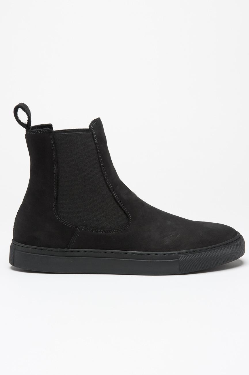 SBU 00994 Classic elastic sided boots in black nabuck leather 01