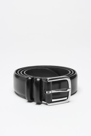 SBU 00999 Cintura classica orciani for sbu in pelle nera 3 cm 01