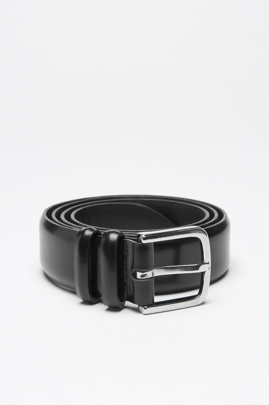 SBU 00999 Classic orciani for sbu black leather 1.2 inches belt 01