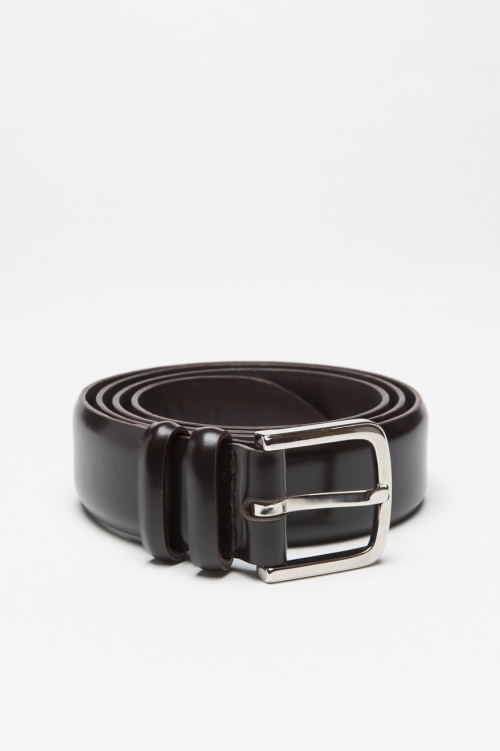 Classic Orciani for sbu brown leather 1.2 inches belt