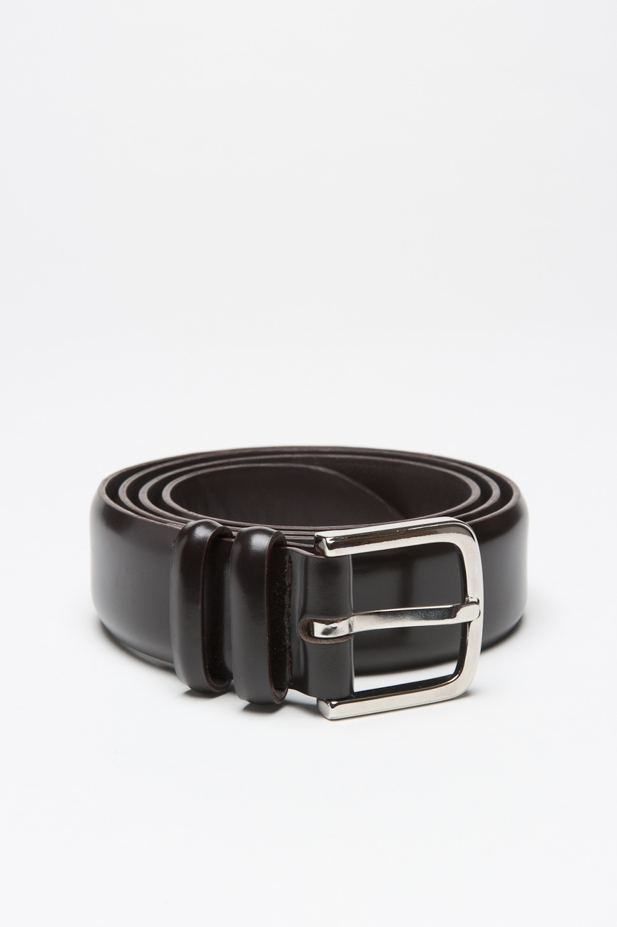 SBU 01005 Classic orciani for sbu brown leather 1.2 inches belt 01