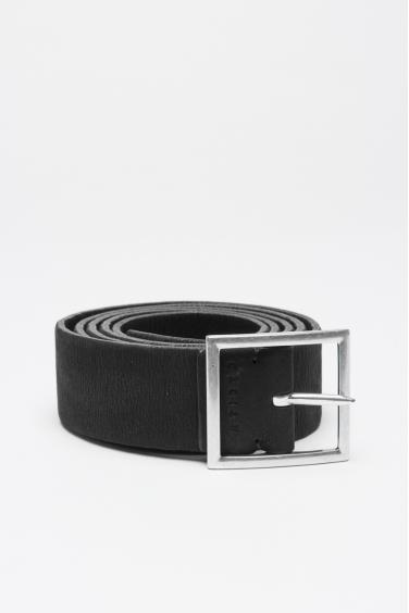SBU 01006 Cintura in pelle elasticizzata double face nera e marrone 3 cm 01