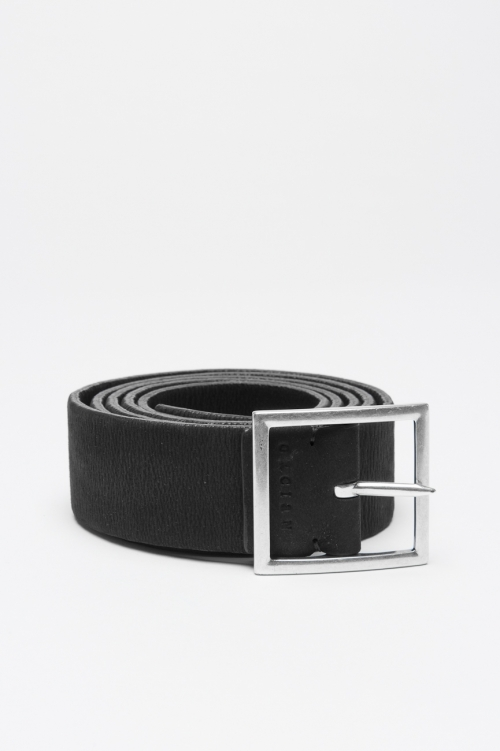 Double face black and brown stretch leather 1.2 inches belt