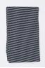 SBU 01018 Bufanda clásica de invierno con rayas en mezcla de cachemira negra y gris 02