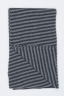 SBU 01018 クラシックなストライプ冬のスカーフカシミアブレンド黒とグレー 03