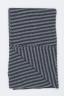 SBU 01018 Echarpe d'hiver rayée classique en cachemire mélange noir et gris 03