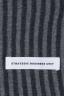 SBU 01018 クラシックなストライプ冬のスカーフカシミアブレンド黒とグレー 05