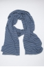 SBU 01019 Classic striped winter scarf in cashmere blend light blue and grey 01