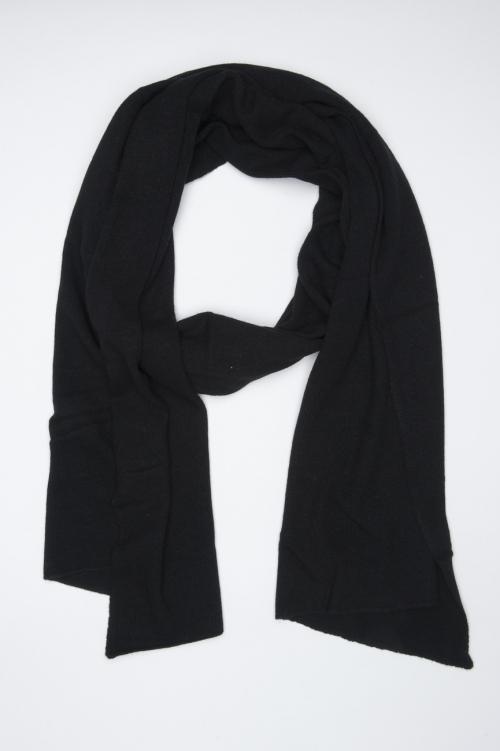 SBU 01021 Bufanda clásica de invierno en mezcla de cachemira negra 01