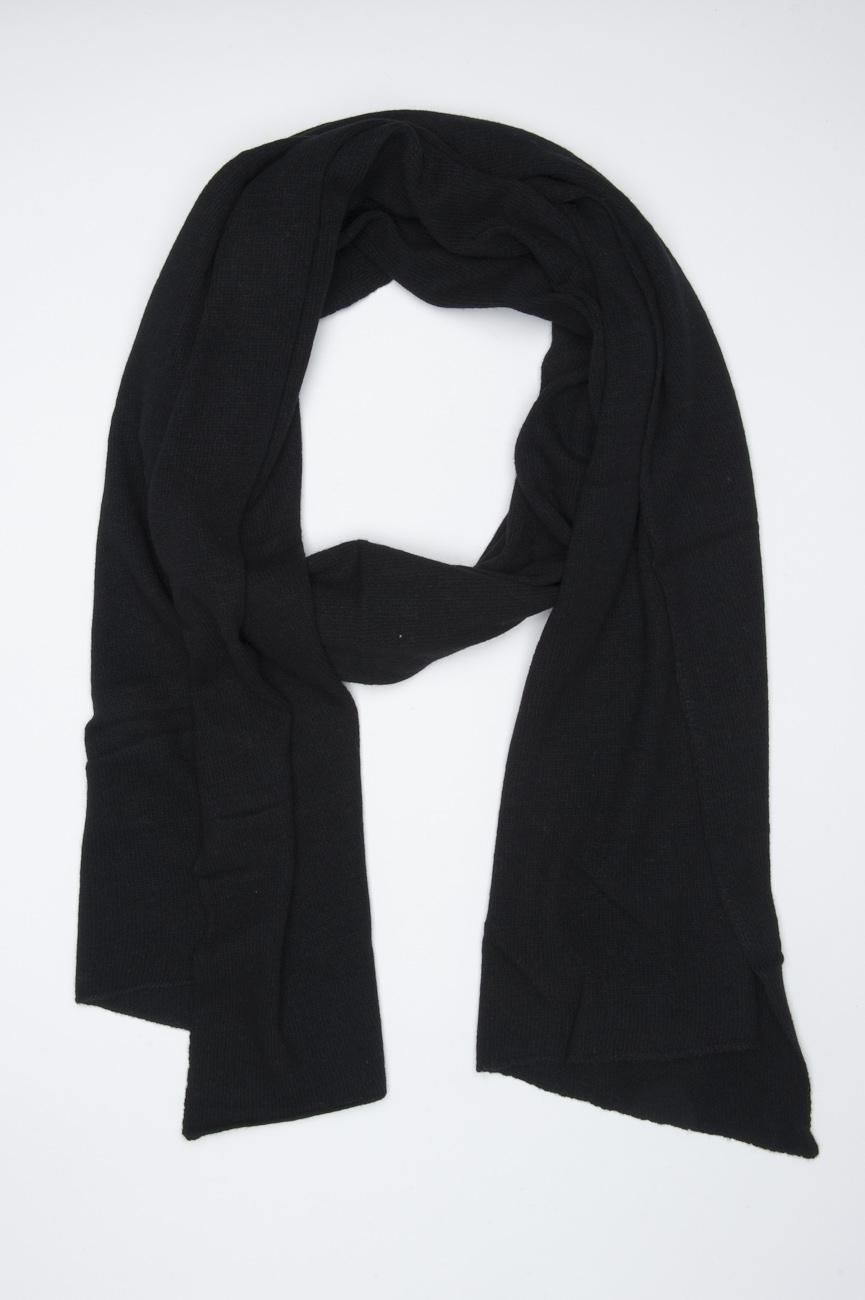 SBU 01021 Classic winter scarf in black cashmere blend  01