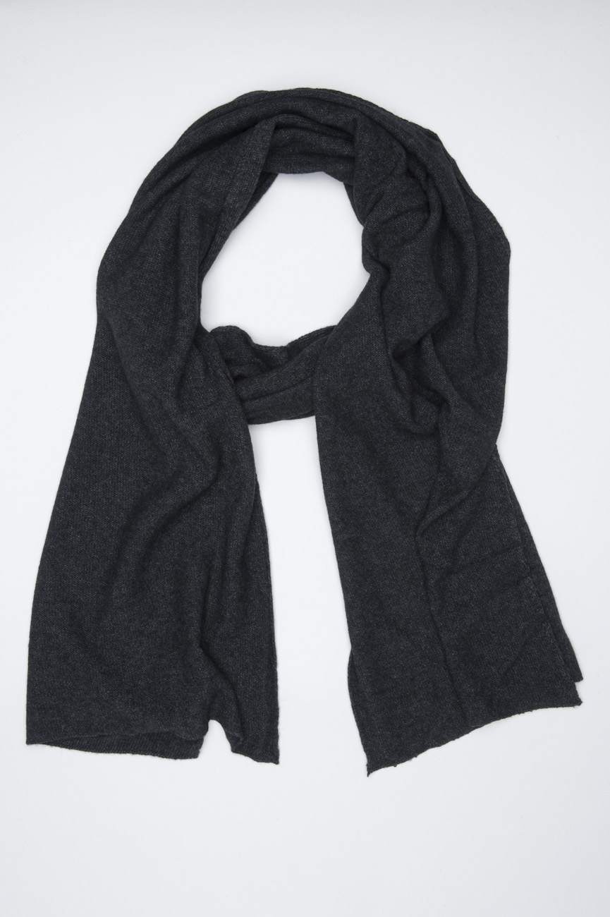SBU 01022 Classic winter scarf in grey cashmere blend  01