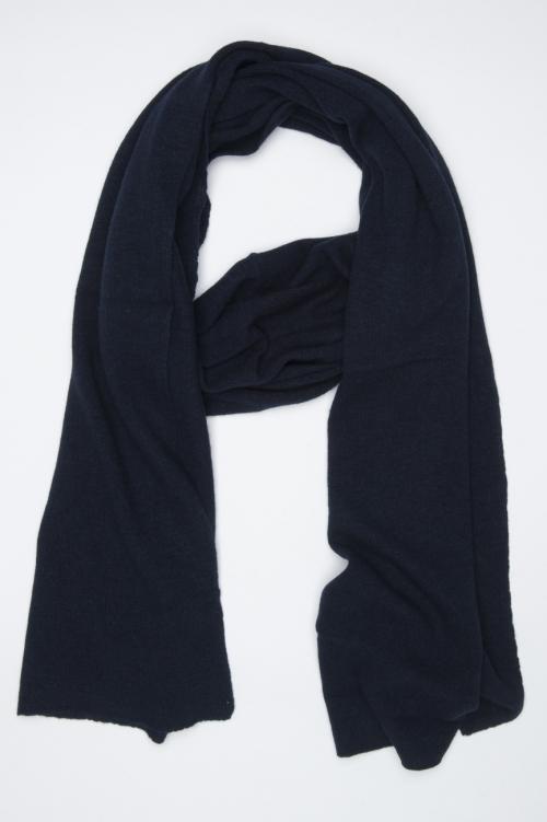 SBU 01023 Classic winter scarf in blue cashmere blend  01