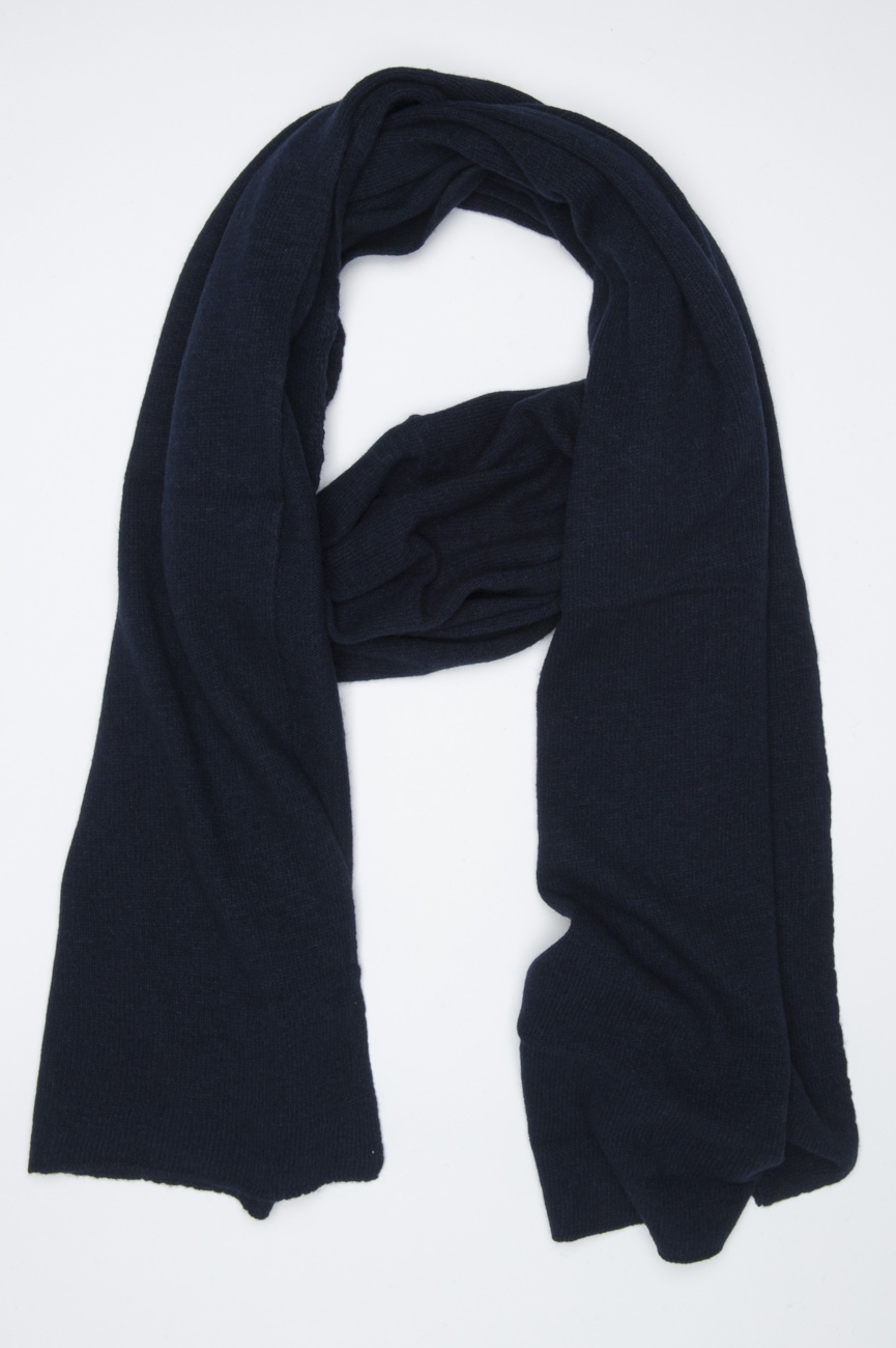 SBU 01023 Bufanda clásica de invierno en mezcla de cachemira azul 01