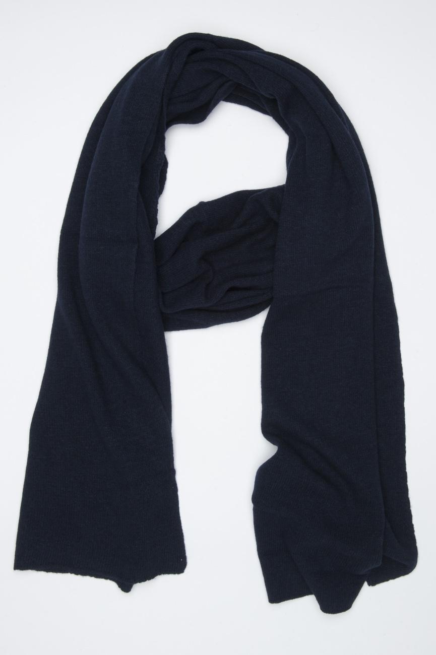 SBU 01023 ブルーカシミアブレンドの古典的な冬のスカーフ 01