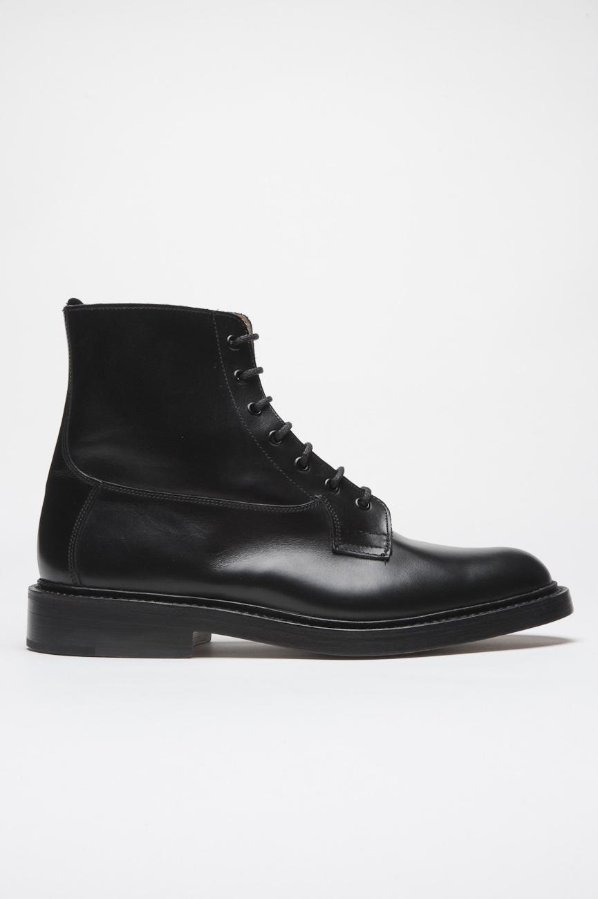 SBU 01033 Clásico botín negra tricker para sbu con suela de piel 01