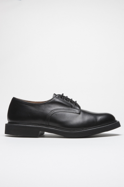 SBU 01034 Tricker's for sbu plain derby shoe with rubber sole black 01