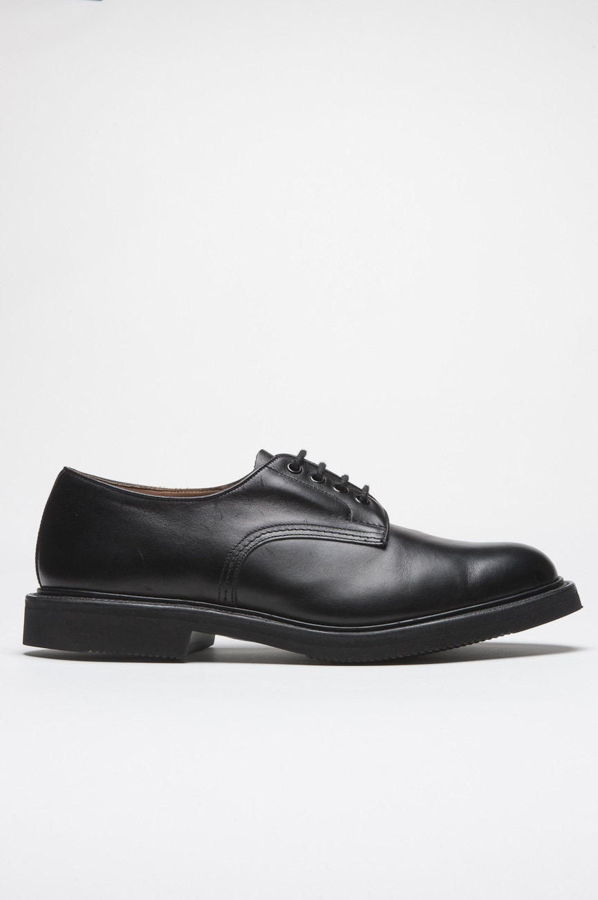 SBU 01034 Tricker's for sbu plain derby shoe with rubber sole black 01