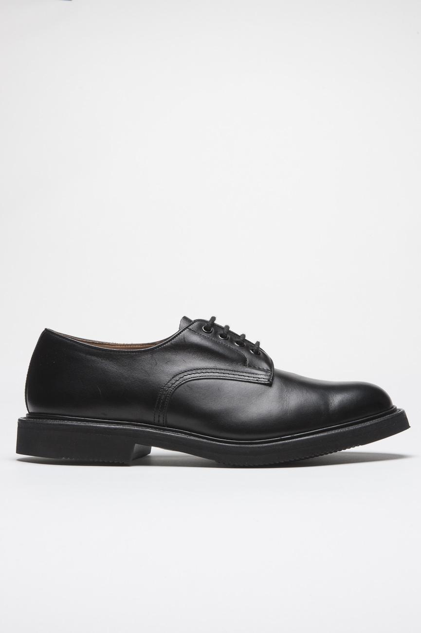 SBU 01034 Zapato negro tricker para sbu liso con suela de goma  01