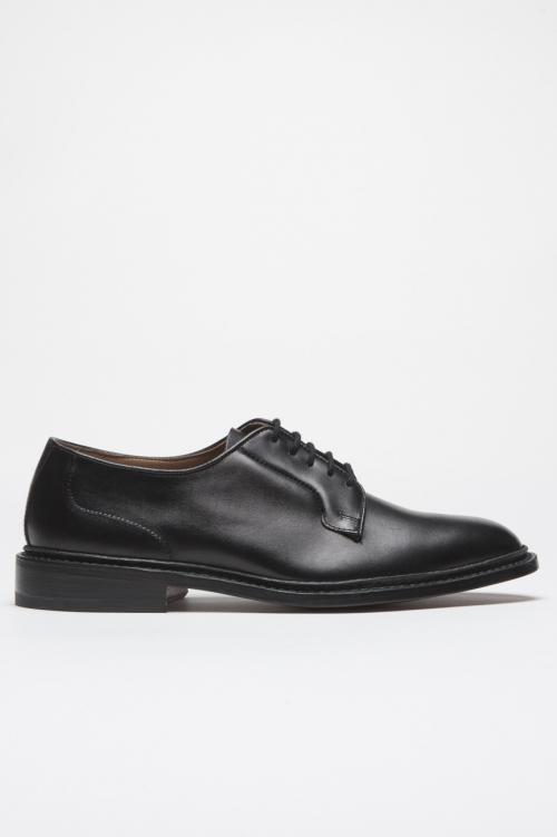 SBU 01035 Tricker's for sbu scarpe derby con suola in cuoio nere 01