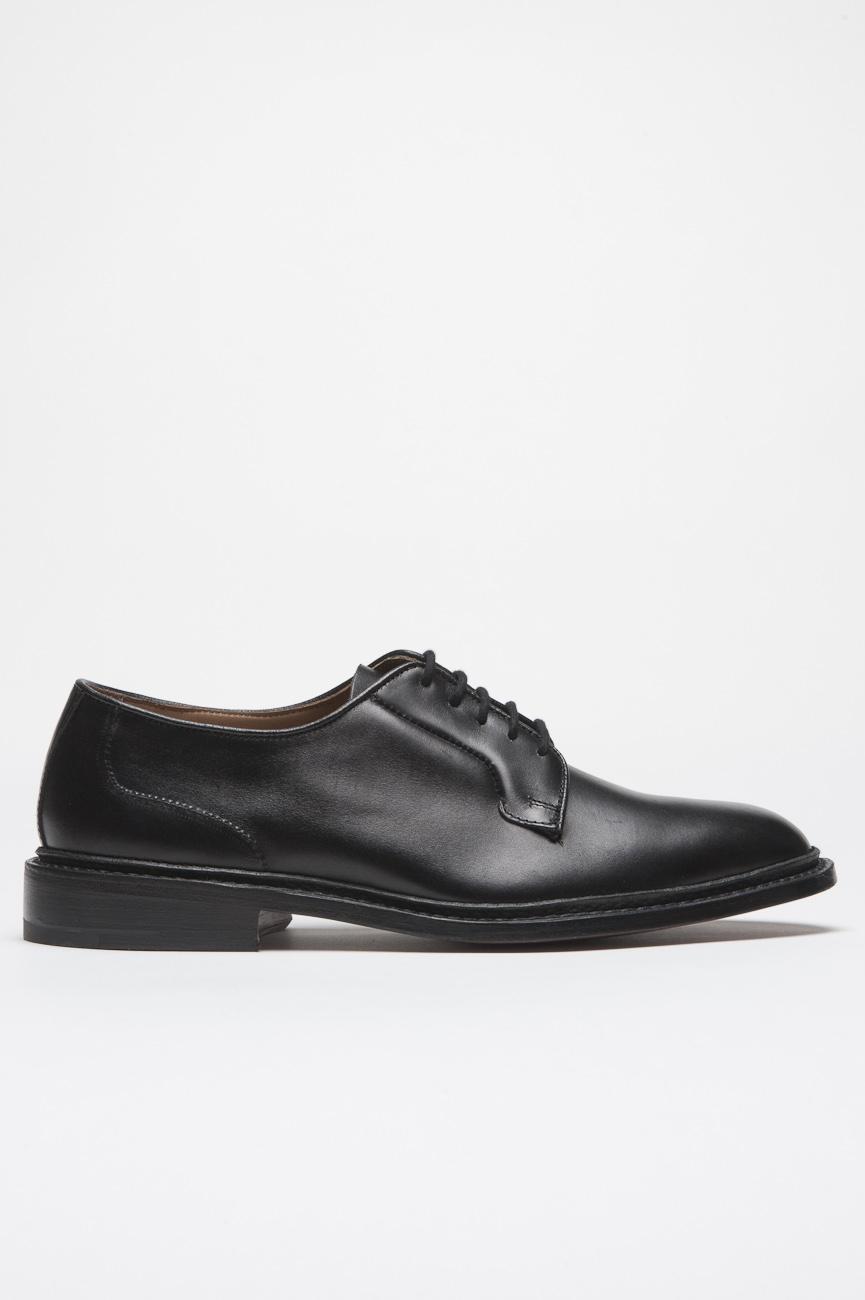 SBU 01035 Chaussure derby noir tricker's pour sbu plaine avec semelle en cuir  01