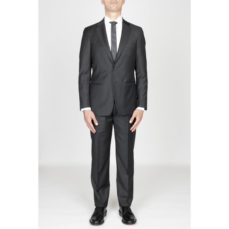 1dada734a0 SBU 01036 Traje formal gris para hombre en lana blazer y pantalón 01
