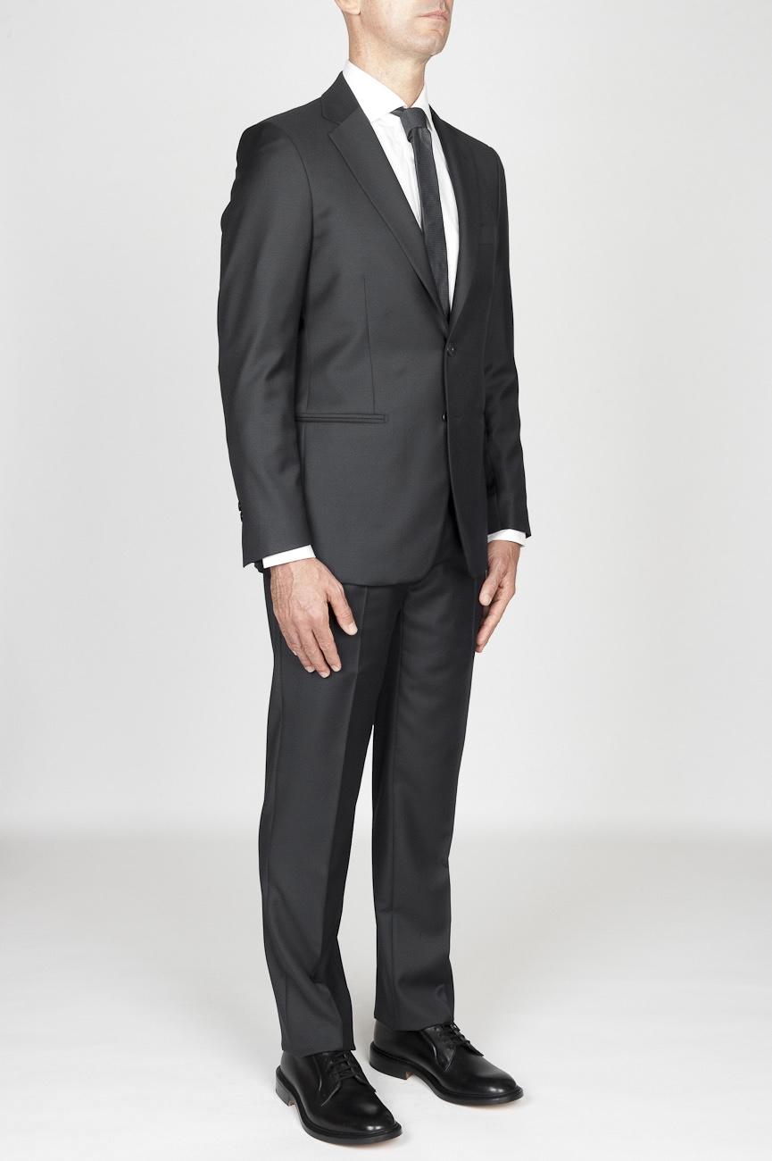 11bddf2ee5 ... SBU 01036 Traje formal gris para hombre en lana blazer y pantalón 02 ...