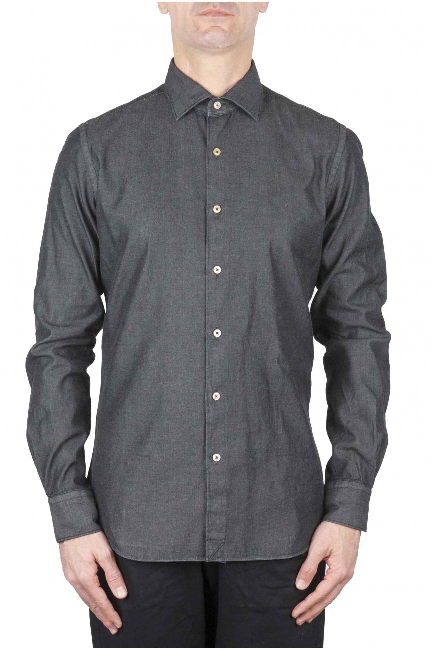 SBU 01062 Camisa en denim slim fit 01