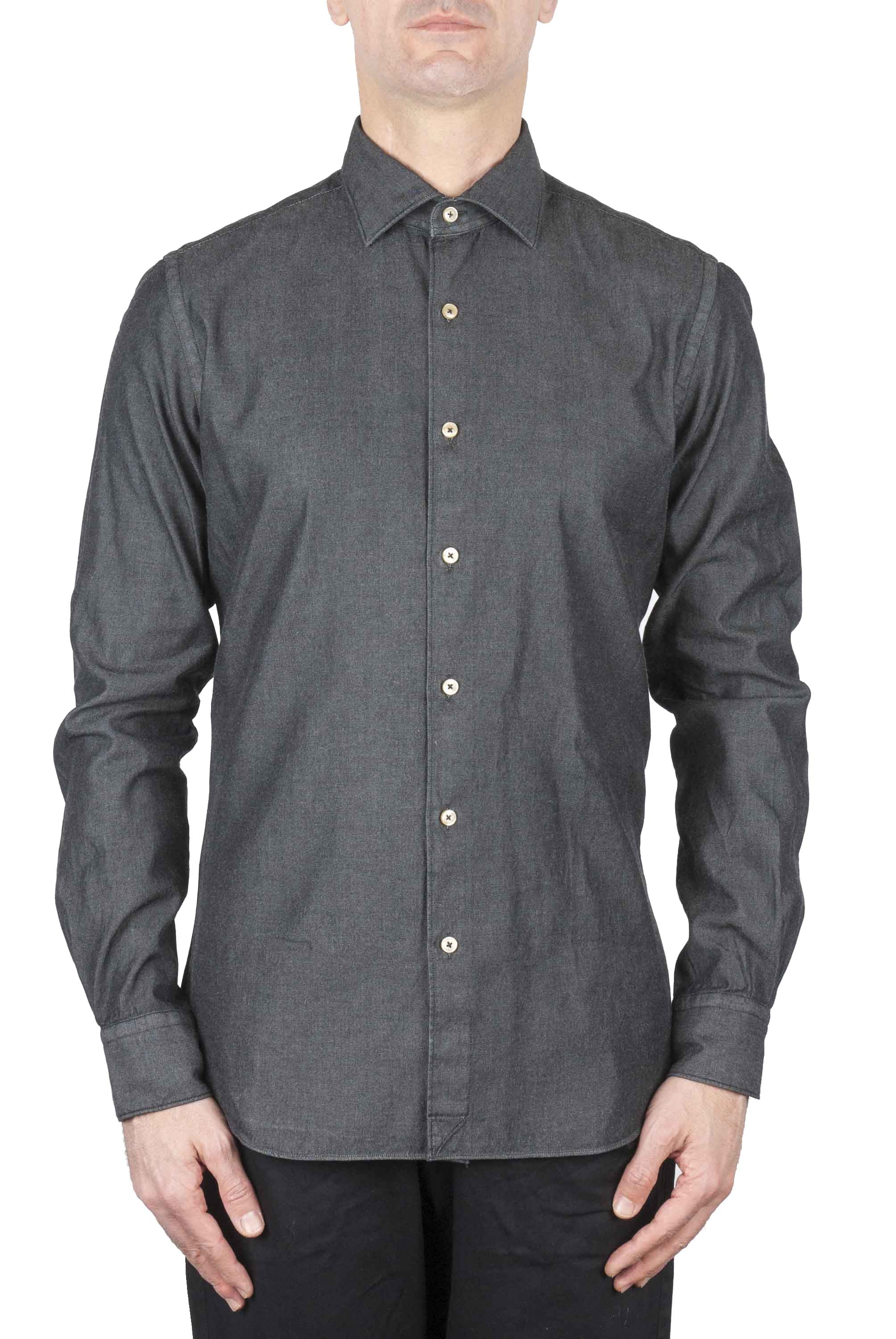 SBU 01062 Camisa en denim slim fit 01