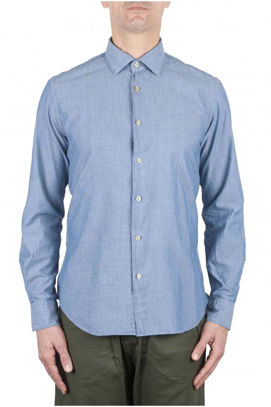 SBU 01063 Slim fit denim shirt 01
