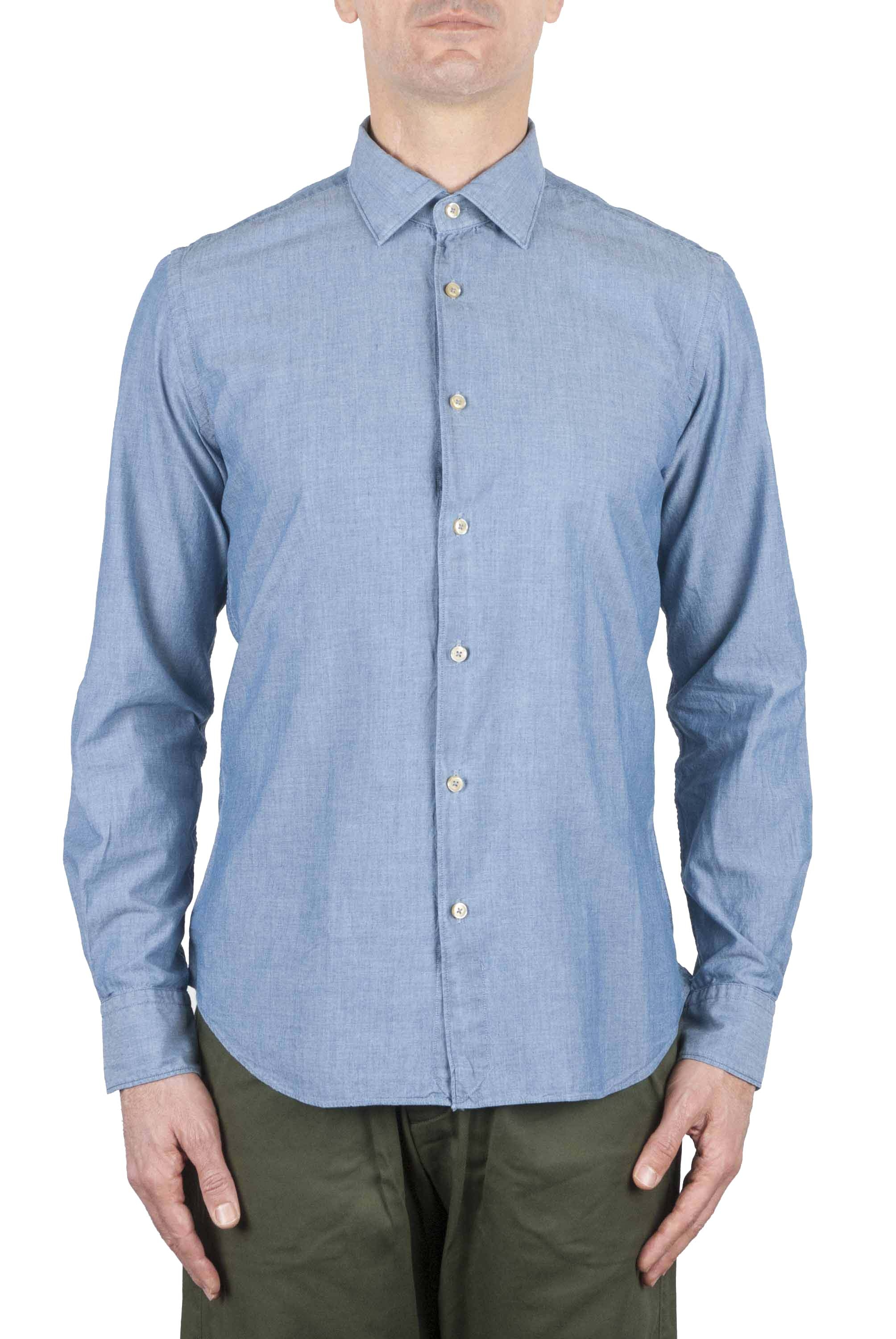 SBU 01063 Camicia slim fit in denim 01
