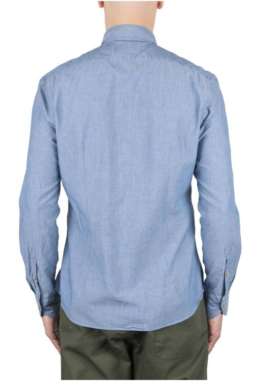 SBU 01063 Camisa en denim slim fit 01