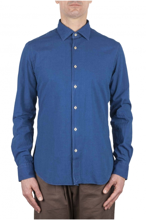 SBU 01064 Camicia slim fit in denim 01