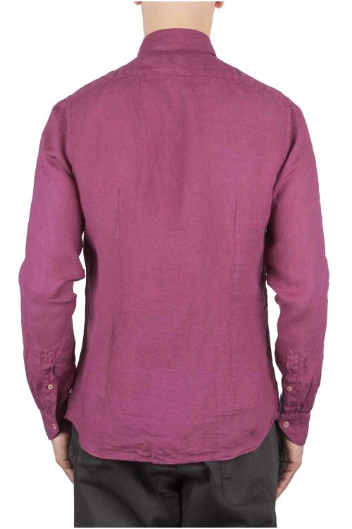 SBU 01078 スリムフィットのリネンシャツ 01