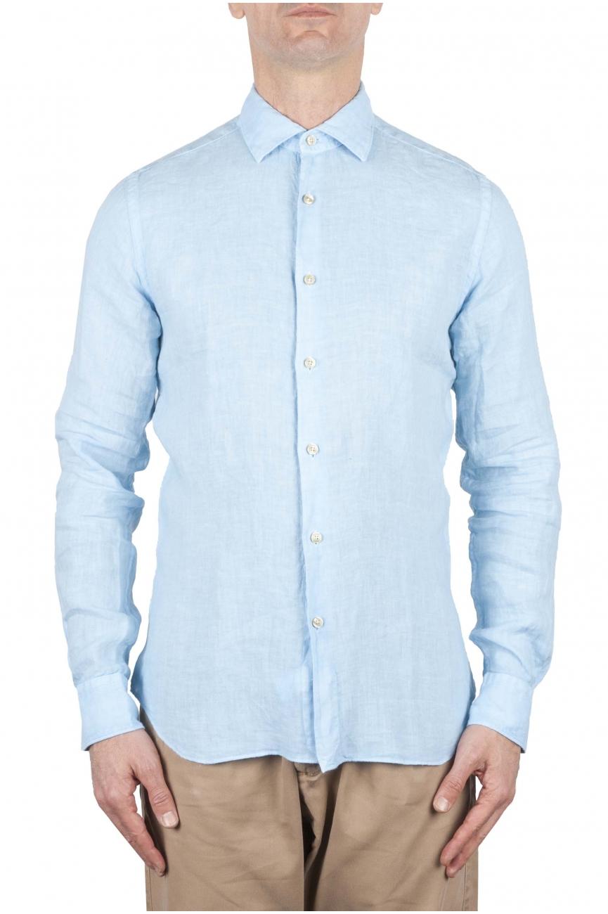 SBU 01079 スリムフィットのリネンシャツ 01