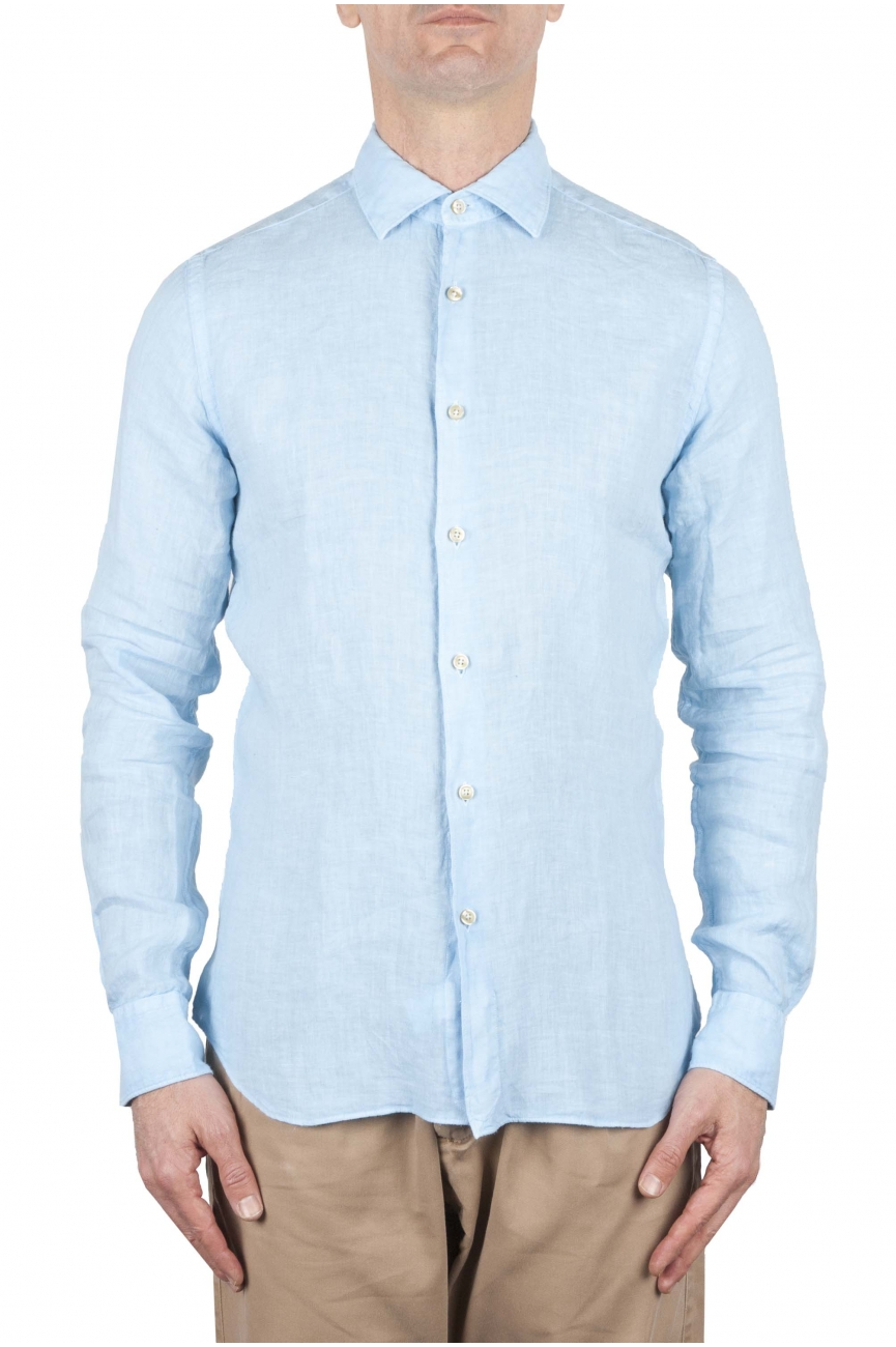 SBU 01079 Camisa de lino slim fit 01