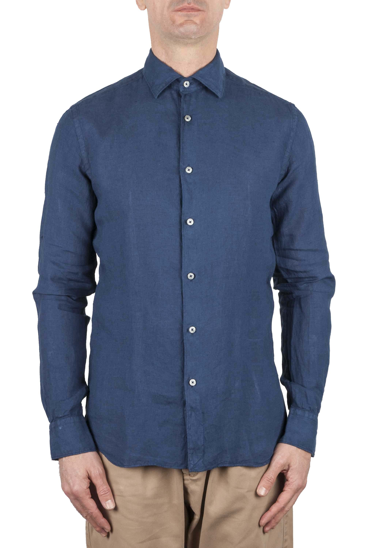 SBU 01080 Camicia slim fit in lino 01