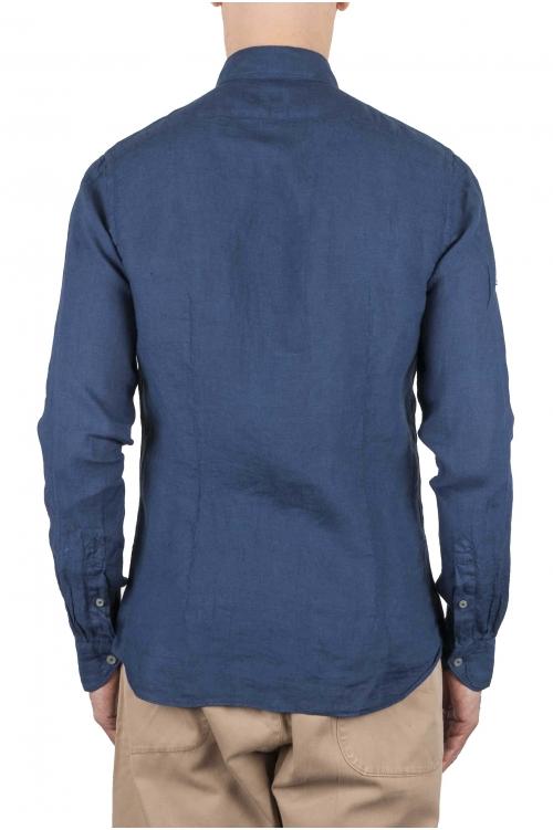SBU 01080 スリムフィットのリネンシャツ 01