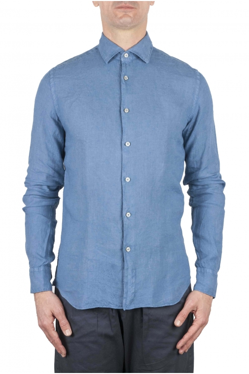 SBU 01081 Camicia slim fit in lino 01