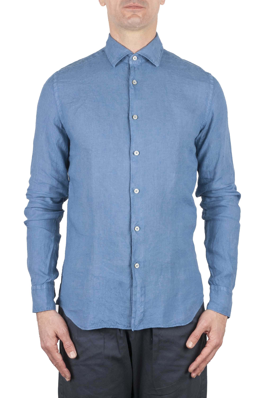 SBU 01081 Camicia slim fit in lino 01