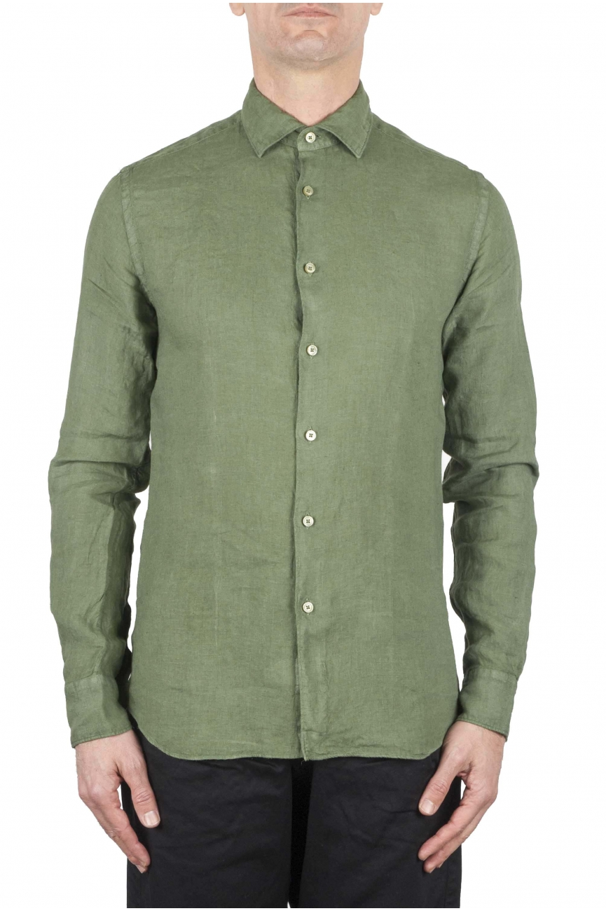 SBU 01082 Camisa de lino slim fit 01