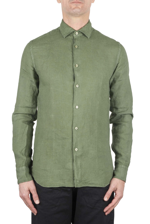 SBU 01082 Camicia slim fit in lino 01
