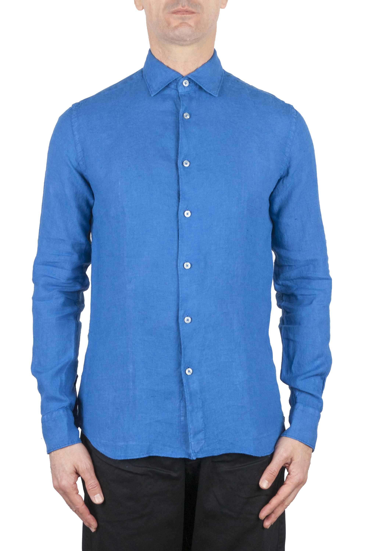 SBU 01083 Camisa de lino slim fit 01