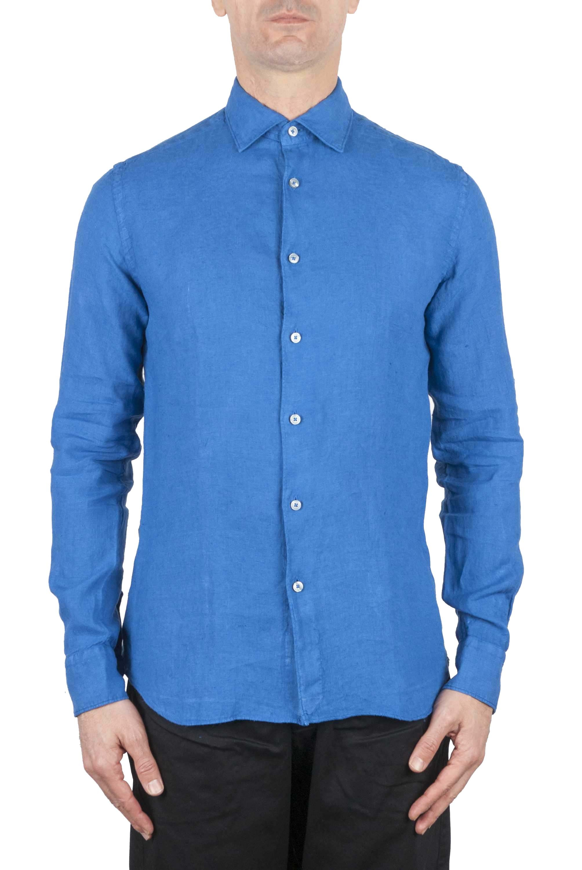 SBU 01083 Slim fit linen shirt 01