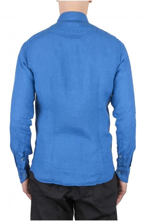 SBU 01083 スリムフィットのリネンシャツ 01